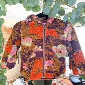 OILILY Fleece Floral Brown Coat Portugual Size 128
